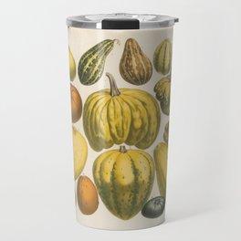 PUMPKINS Old Print - Halloween Travel Mug