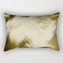 Fallen Angel Vertical Gold Rectangular Pillow