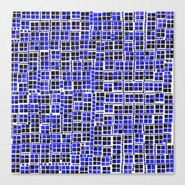 Blue pixels fashion Canvas Print