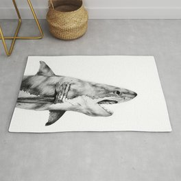 Great White Shark Rug