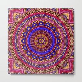 Hippie mandala 42 Metal Print