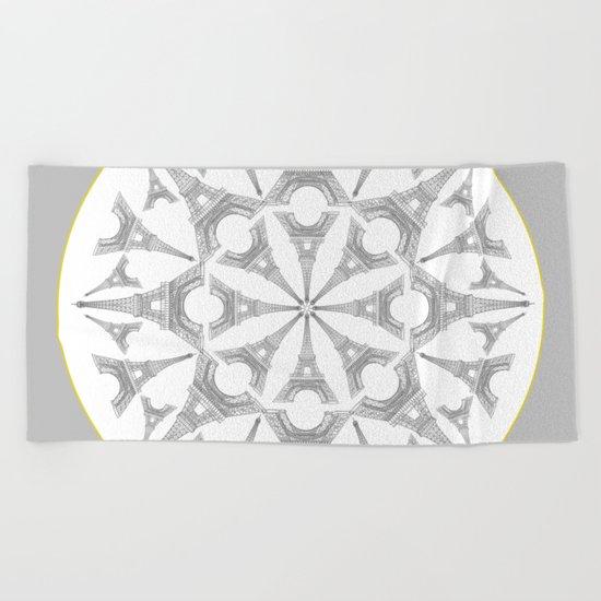 Paris in a Kaleidoscope Beach Towel