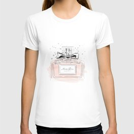 Perfume bottle with bow T-shirt