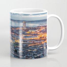 Dusk at Swansea city Coffee Mug