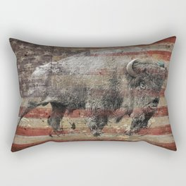 American Bison 2 Rectangular Pillow