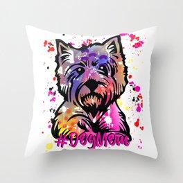 Scotty Dog Mom Throw Pillow