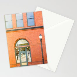 Street photography brick building afternoon II Stationery Cards