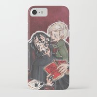 snape iPhone & iPod Cases featuring Babysitting - Snape and Draco by CaptBexx
