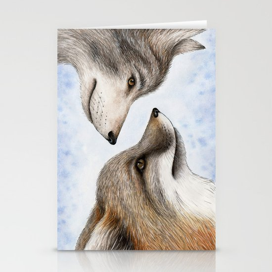 Vanishing Canadian Canids Stationery Cards