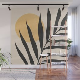 ABSTRACT ART TROPICAL - LEAF 01 Wall Mural