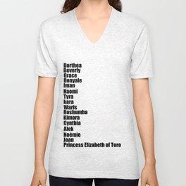 Black Fashion Unisex V-Neck