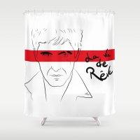 scarface Shower Curtains featuring La vie de rêve by Nile