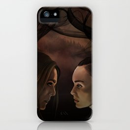 I'm so so sorry // our demons are alike // abby & raven iPhone Case
