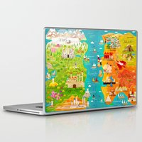 thrones Laptop & iPad Skins featuring A Map of Ice and Fire by Kitkat Pecson