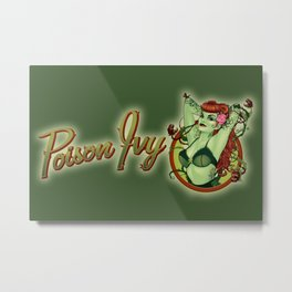 Poison Ivy Bombshell Metal Print