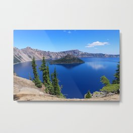 Deep Blue Carter Metal Print