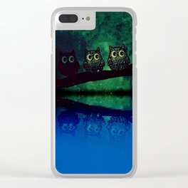 owl-66 Clear iPhone Case