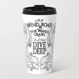 Dive Deep - Black and White Travel Mug