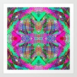 Green Fuchsia Kaleidoscope Art Print