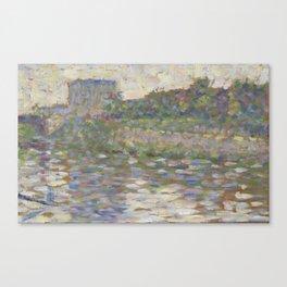 The Seine at Courbevoie Canvas Print