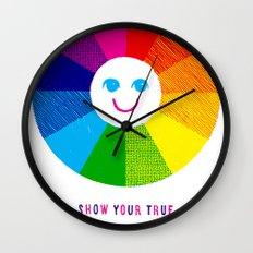 Show Your True Colors Wall Clock