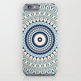 Hokusai Inspired Kaleidoscope Pattern iPhone Case
