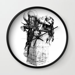 Over knees Wall Clock
