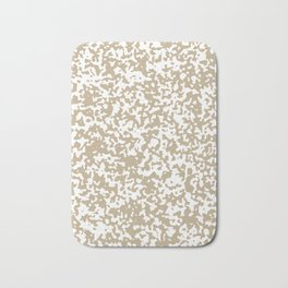 Small Spots - White and Khaki Brown Bath Mat
