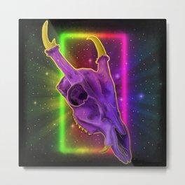 Neon muntjac Metal Print