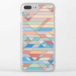 Triangle Pattern no.2 Colorful Clear iPhone Case