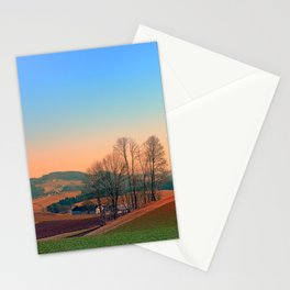 Trees, panorama and sunset | landscape photography Stationery Cards