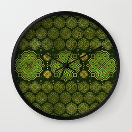 Celtic Endless Knot - Shamrock Four-leaf clover Wall Clock