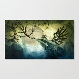 Frog Prince Midnight Fantasy Canvas Print