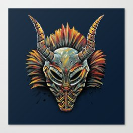 Killmonger Tribal Mask Canvas Print