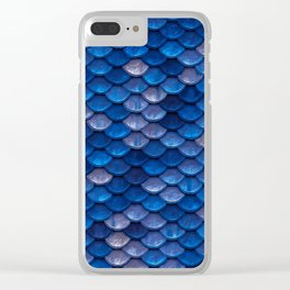 Blue Penny Scales Clear iPhone Case