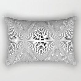 Geometric 3 D Architecture Repeat Rectangular Pillow