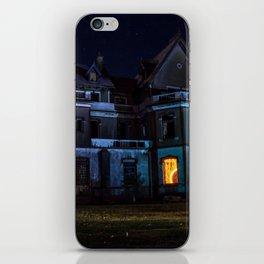 Castle on fire iPhone Skin