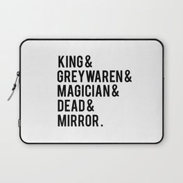 gangsey (the raven cycle) // white Laptop Sleeve