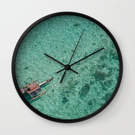 Outrigger in Hawaii Wall Clock