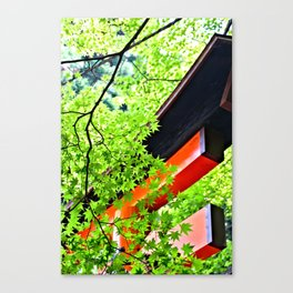 Leaf to Leave to Gate Canvas Print