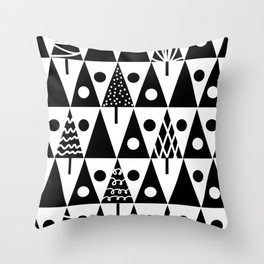 Christmas trees 3 Throw Pillow