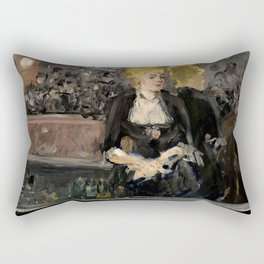 "Édouard Manet ""First version of Le Bar aux Folies Bergère"" Rectangular Pillow"