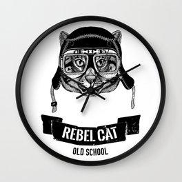 REBEL CAT Wall Clock