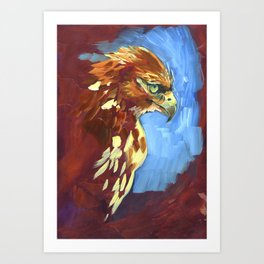 Dreaming Red Tail Art Print