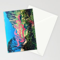 Pink Teal Retro Paradise Vintage Style Photography Stationery Cards