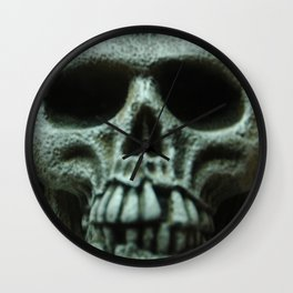 Grey Skull Wall Clock