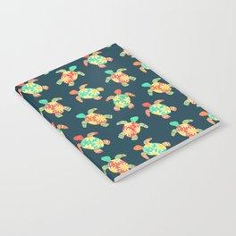 Cute Flower Child Hippy Turtles Notebook