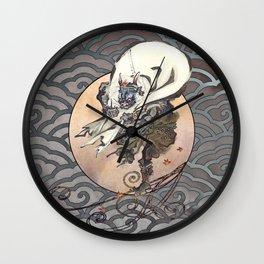 Kawanabe Kyosai Fujin God of the Wind Wall Clock