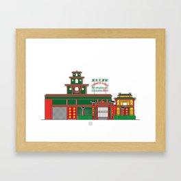 Restaurant El Palmar Framed Art Print