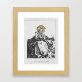 The Wet Nurse of the Woods Framed Art Print